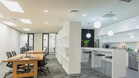 Auckland co-working desks.